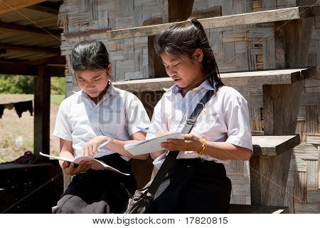 Asian Students Learning