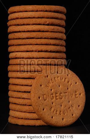 Digestive biscuits, portrait format
