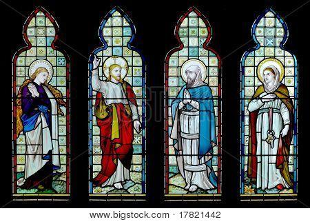 Vidriera de mediados del siglo XIX capilla en Inglaterra rural