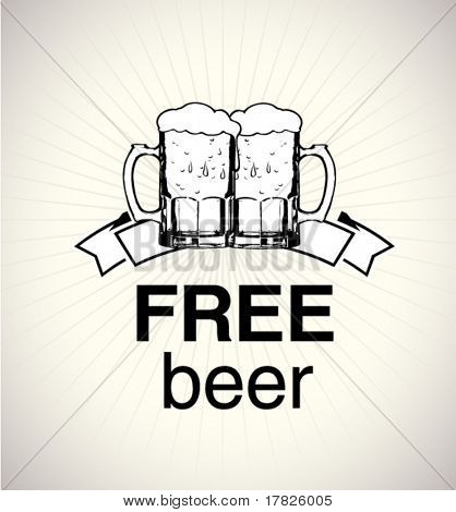 free beer sign