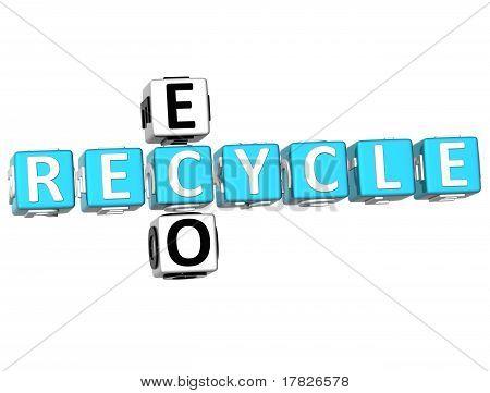 3D Recycle Eco Crossword