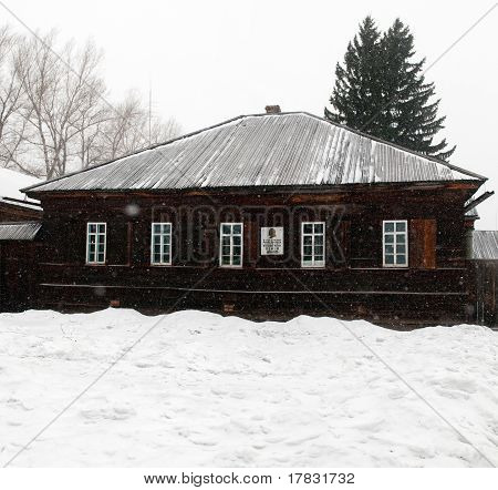 House in siberian urban-type settlement Shushenskoye