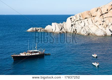 Yacht At Capo Testa, Sardinia