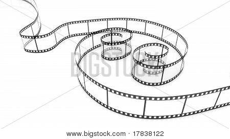 Two Blank film strips