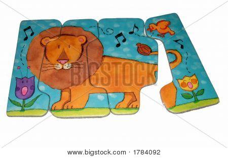 Puzzle Of A Lion