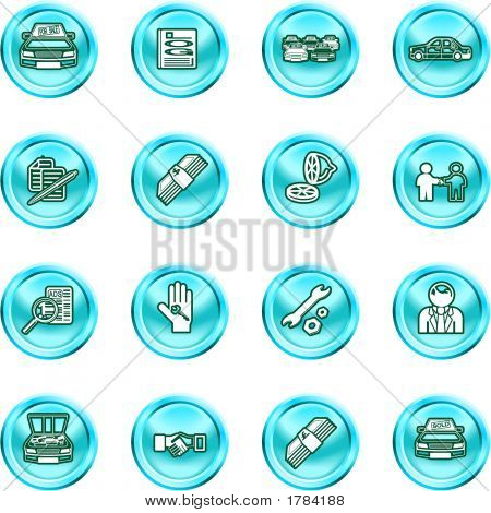 Vehicle Dealership Icon Set