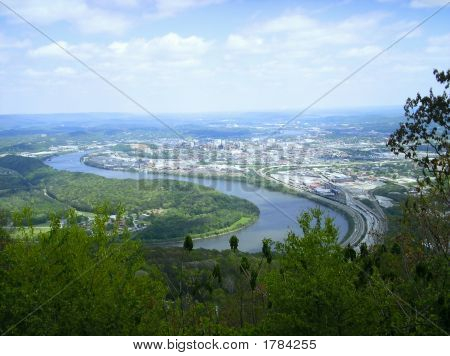 Tennessee River  & Chattanooga From Lookout Mountain