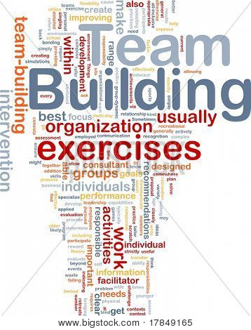 Background concept wordcloud illustration of team buliding