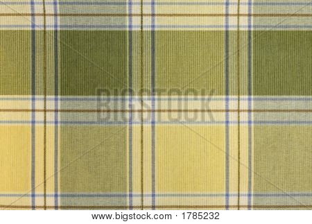 Yellow And Sage Large Plaid Abstract Background
