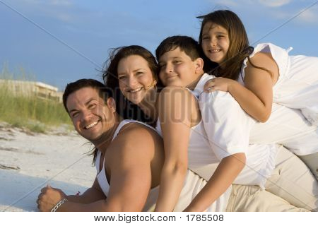Family Time On A Beach