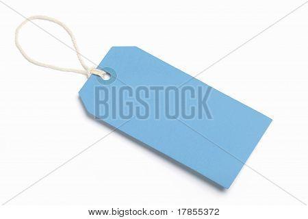 Blank Blue Tag