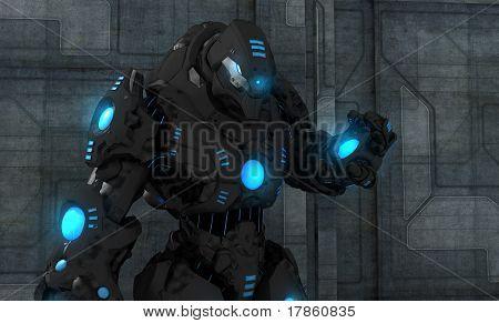 futuristic high tech robot