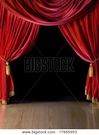 Fancy Living Room Curtains Red Velvet Textiles