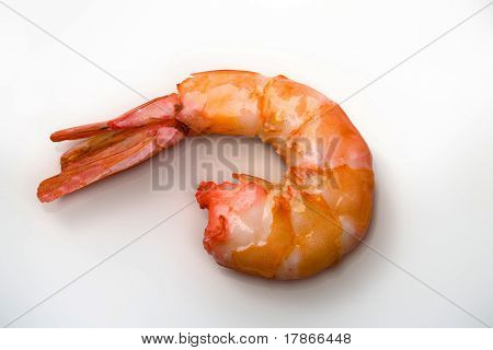 Delicious boiled shrimp