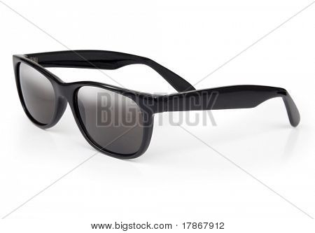 Sunglasses isolated on a white background with subtel reflection and shadow