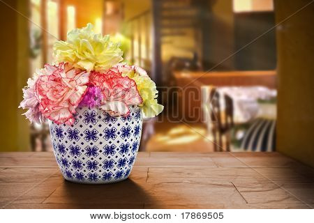 Carnation In a Short Vase