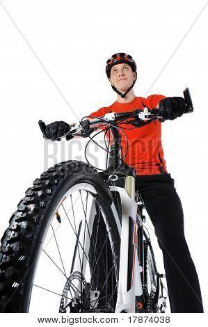 portrait of a bicyclist
