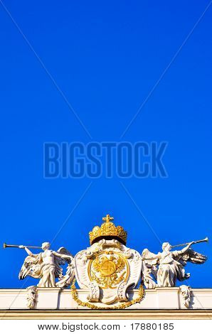 Angel Sculptures In Front Of Blue Sky