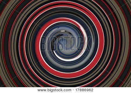 Grey, Red, Blue, White, Black Swirl Graphic