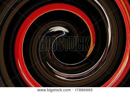 Brown Orange White Swirl Graphic Backdrop