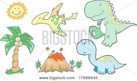 Bebê dinossauros Vector Illustration