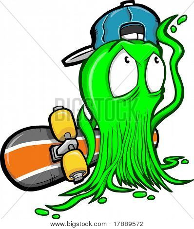 Skater Booger Vector Illustration