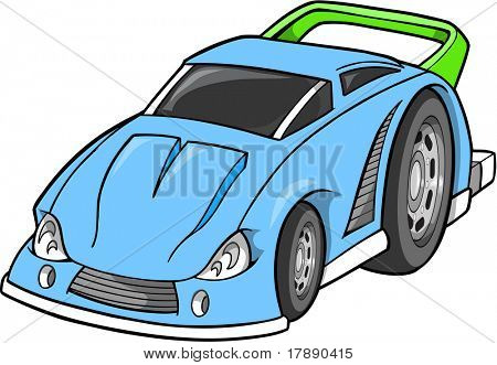 Hot-Rod-Rennwagen-Vektor-Illustration