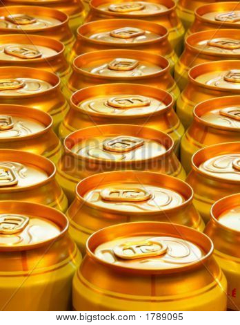 Yellow Beer Cans