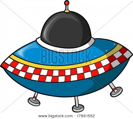 Fling Saucer Vector illustration