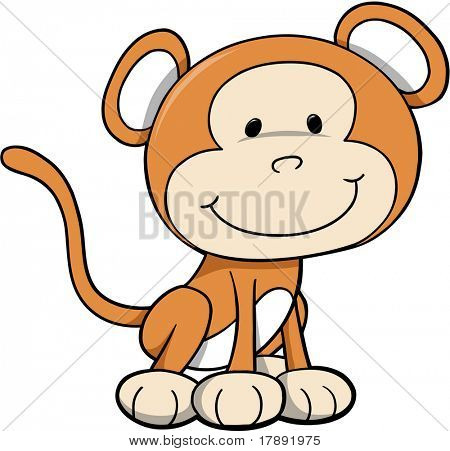 Safari Monkey vectorillustratie