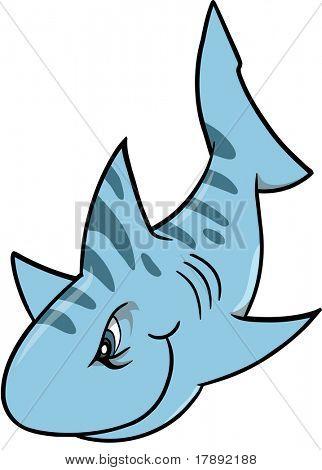 bedeutet Haifisch-Vektor-illustration