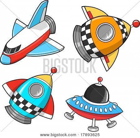 Space Set Vector Illustration