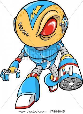 Robotic Warrior Vector Illustration