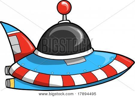 Flying Saucer Vector illustration