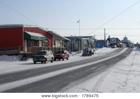 Looking South On Mackenzie Avenue, Inuvik