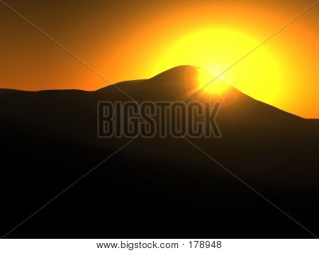 Yellow Sun Landscape
