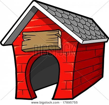 Dog House Vector Illustration