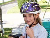 Cute Girl In A Helmet poster
