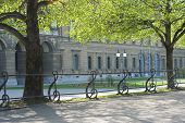 foto of munich residence  - Spring View of the Residence Palace in Munich from the Hofgarden - JPG