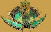 picture of carnivale  - Headdress used to celebrate Carnivale in Trinidad and Tobago - JPG