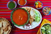 pozole mayan yucatan Mexican soup chili sauces nachos Mexico food