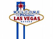 stock photo of las vegas casino  - Las Vegas Sign in white background easy to isolate - JPG
