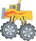 picture of monster-truck  - Monster truck Vector Illustration - JPG