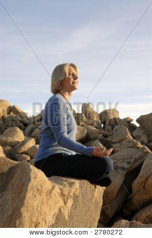Meditação mulher