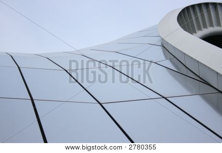 A Modern Roof Structure With Reflective Surface