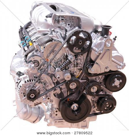 engine, isolated over white