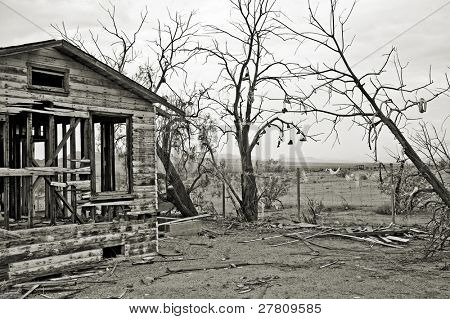Ghosttown ruins in the Arizona desert