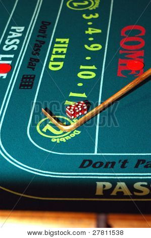 A Las Vegas Craps table at the end of a shift