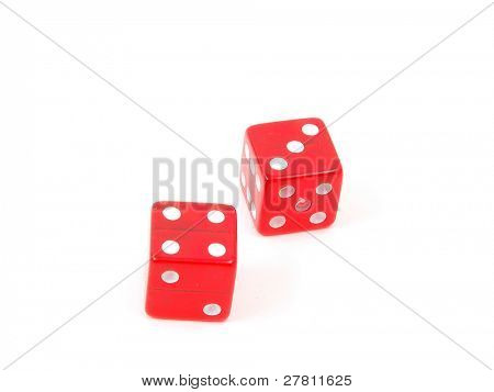 7 (craps) rolled on red dice