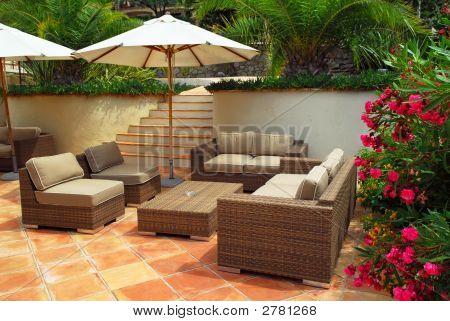 Patio Of A Villa
